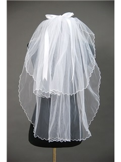 Attractive Tidebuy Floral Edge Wedding Bridal Veil ZU98798