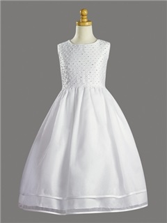 Elegant Ball Gown Tea-Length Flower Girl Dress