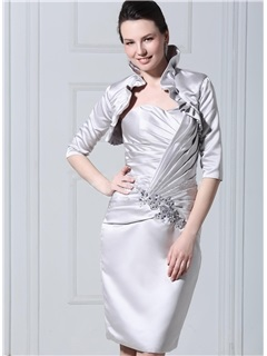 Handsome 1/2 Sleeve White Wedding Jacket/Wraps