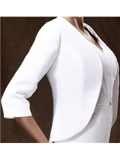 Attractive 3/4-length Sleeve White Wedding/ Party Jackets