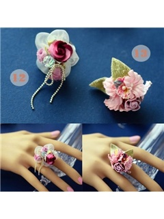 Sophisticated Tulle Flowers Wedding/Bridal/Party Ring