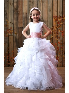 Gorgeous Ball Gown Ruched Floor-length Flower Girl Dress & vintage Flower Girl Dresses