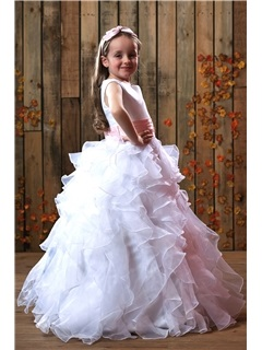 Gorgeous Ball Gown Ruched Floor-length Flower Girl Dress