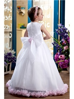 Beautiful A-line Scoop Floor-Length Flower Girl Dress