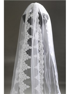 Cathedral Length With Lace Wedding Veil