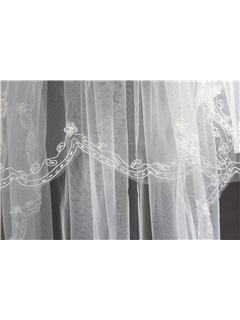Outstanding 2 LayerFingertip Wedding Bridal Veil