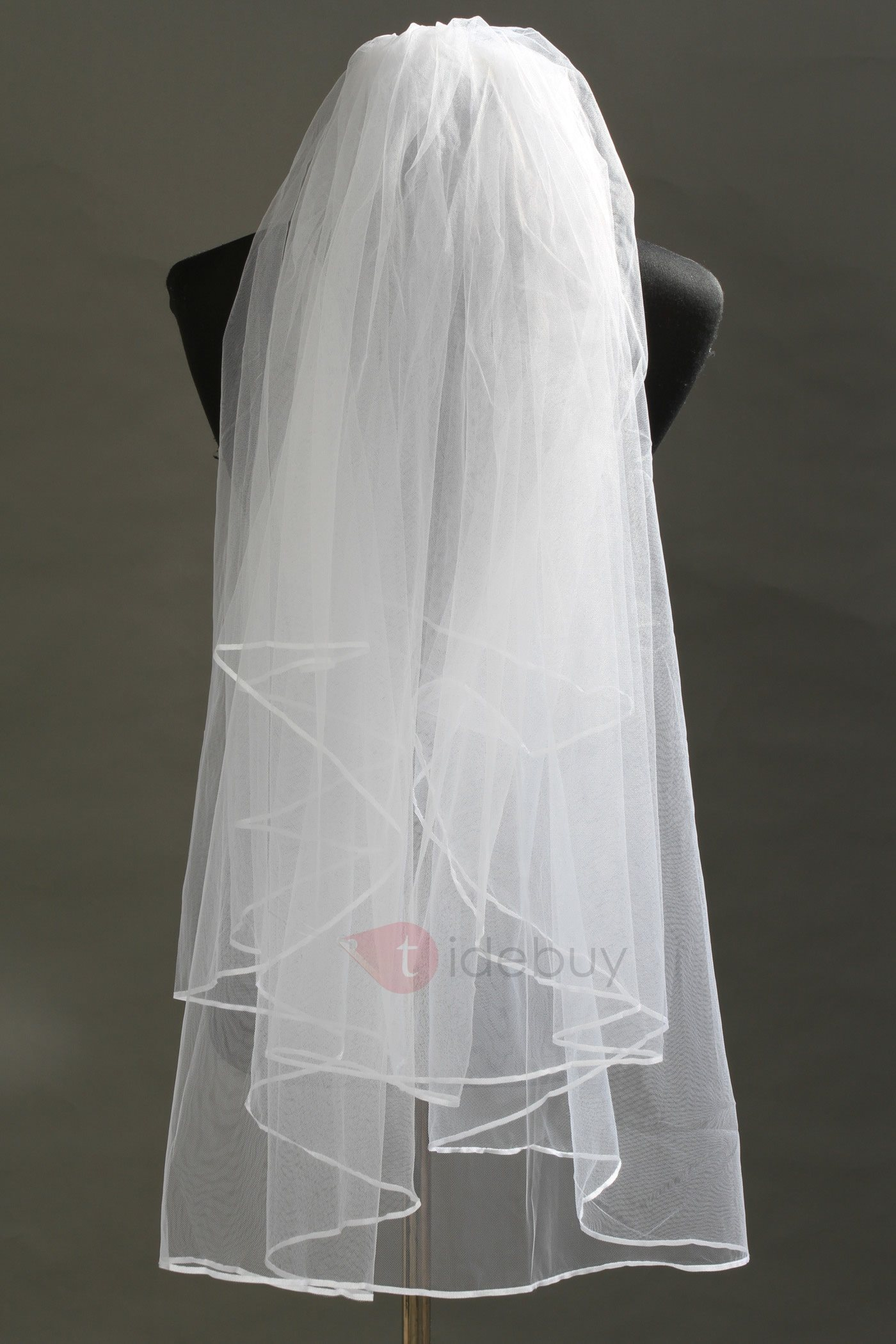 Stylish Tidebuy 2 Layer Elbow Tull Wedding Bridal Veil