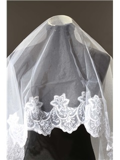Faddish Waltz White Lace Wedding Bridal Veil