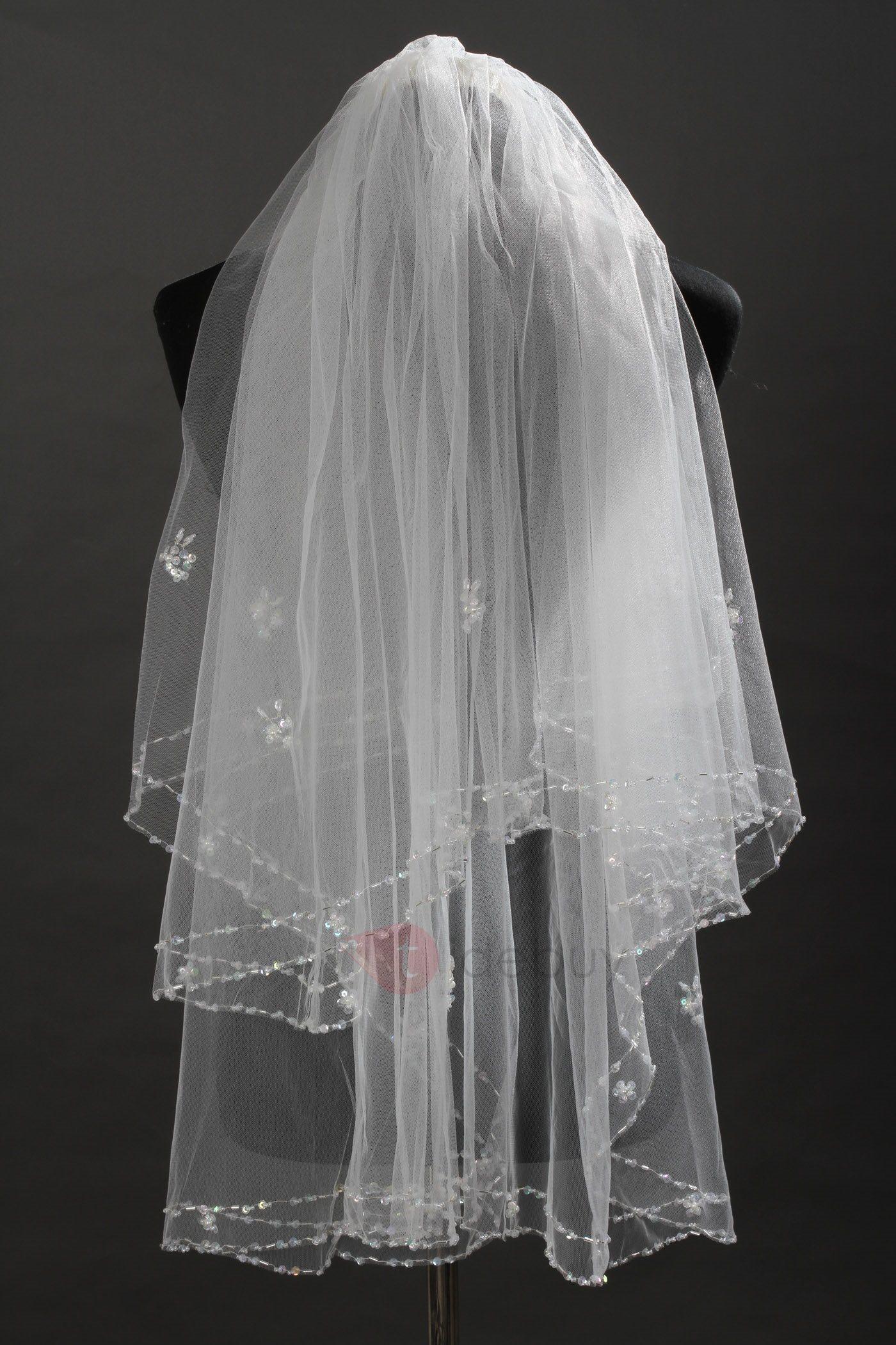 Elbow Tull Wedding Bridal Veil