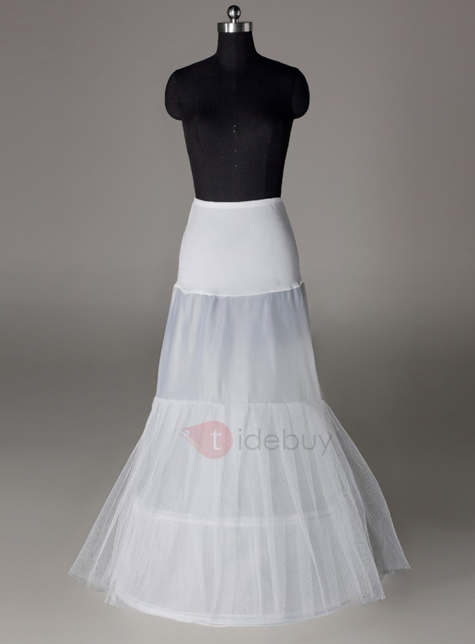 Pretty Fish Tailing Two Layers Two Steel Loops Wedding Petticoat