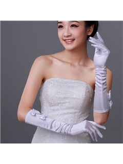 Flowers Long Fingers Wedding Bridal Glove