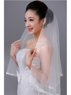Gorgeous Tidebuy Fingertip Tulle Single Layer Wedding Bridal Veil