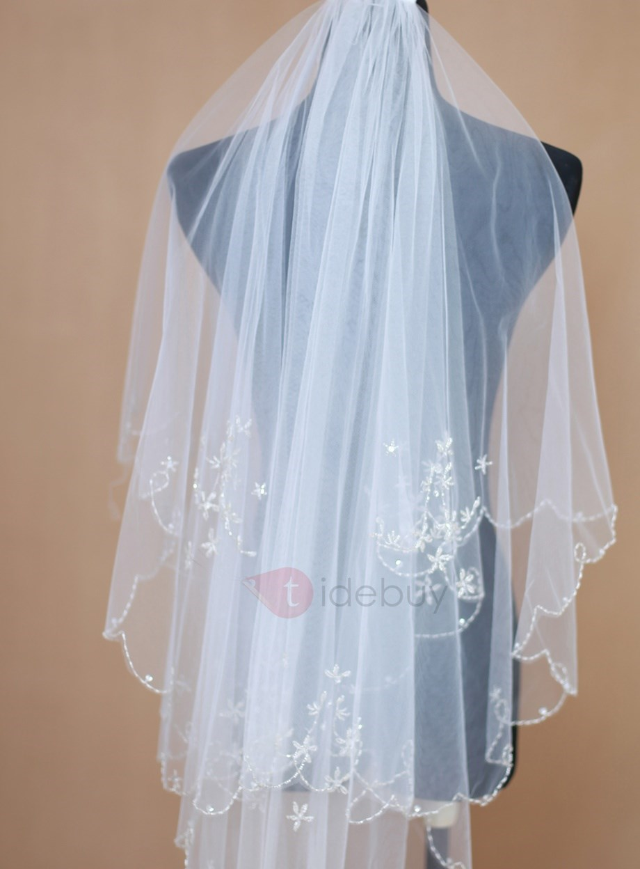 Three Layer Fingertip Wedding Veil