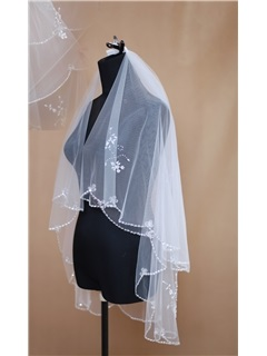 Graceful Elbow Wedding Bridal Veil
