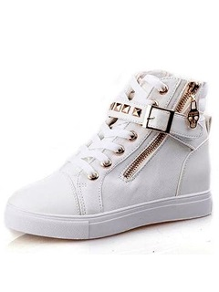 Beautiful Comfortable Campus Style Lace Up Pattern Canvas Shoes