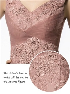 Vintage Sheath Appliques Zipper-up Long Mother of the Bride Dress