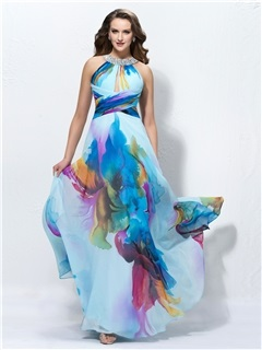 Charming A-Line Jewel Neck Sequins Prom Dress Designed Independently & cheap Formal Dresses