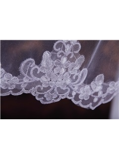 Elbow Wedding Veil with Embroidery