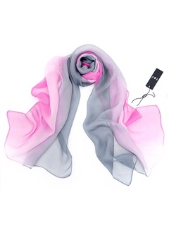 Gradient Changing Color Chiffon Women Scarf