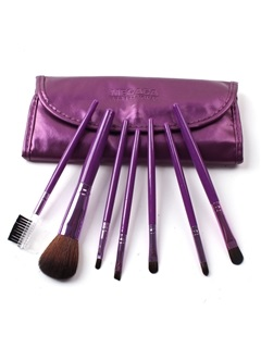 7 Pcs Nylon Fiber Make Up Brush Set  3