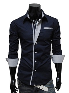 Lapel Single-Breasted Long Sleeve Shirt