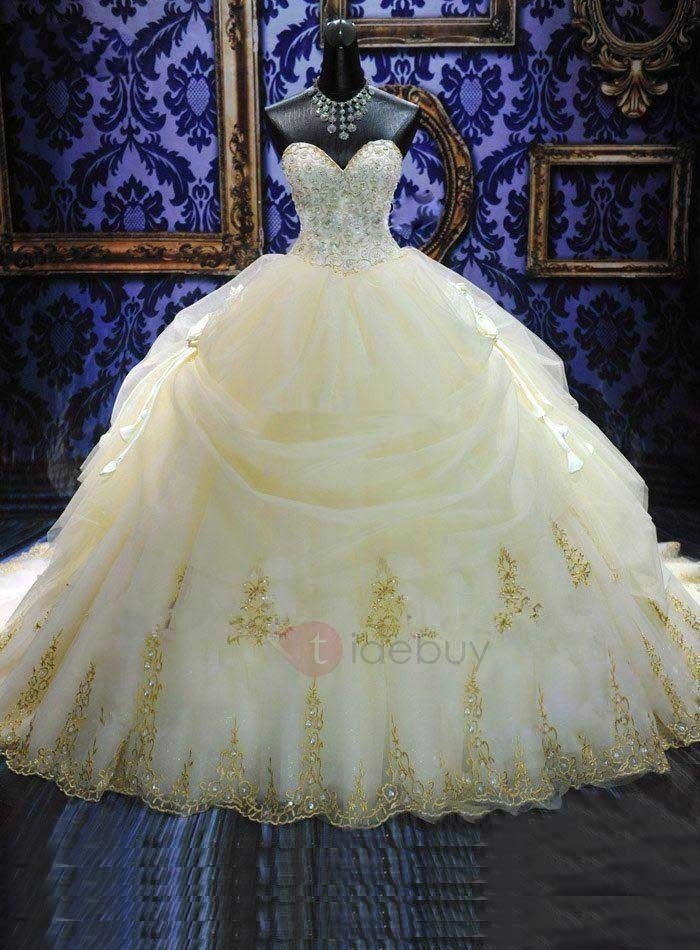 Ball gown wedding dresses gt deluxe royal cathedral beaded sweetheart