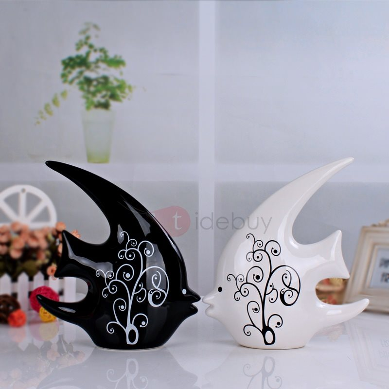Modern Ceraic Interior Furnishing Articles Home Decoration Crafts (Two Pieces)
