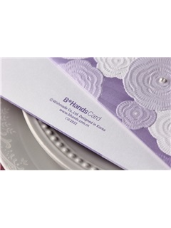 Classic Style Side Fold Invitation Cards (20 Pieces One Set)