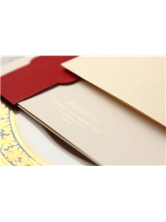 Floral Style Wrap & Pocket/Side Fold Invitation Cards (20 Pieces One Set)