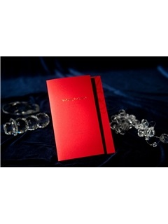 Modern Style Tri-Fold Red Wedding Invitation Cards (20 Pieces One Set)