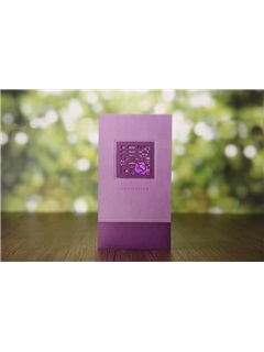Classic Style Purple Wrap & Pocket Invitation Cards (20 Pieces One Set)