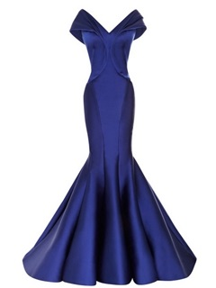 Timeless Off-the-Shoulder V-Neck Mermaid Long Evening Dress