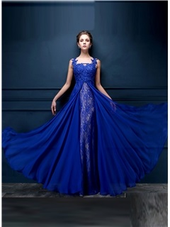 Dazzling Tulle Neck Appliques Lace Sequins Long Evening Dress & Evening Dresses under 500