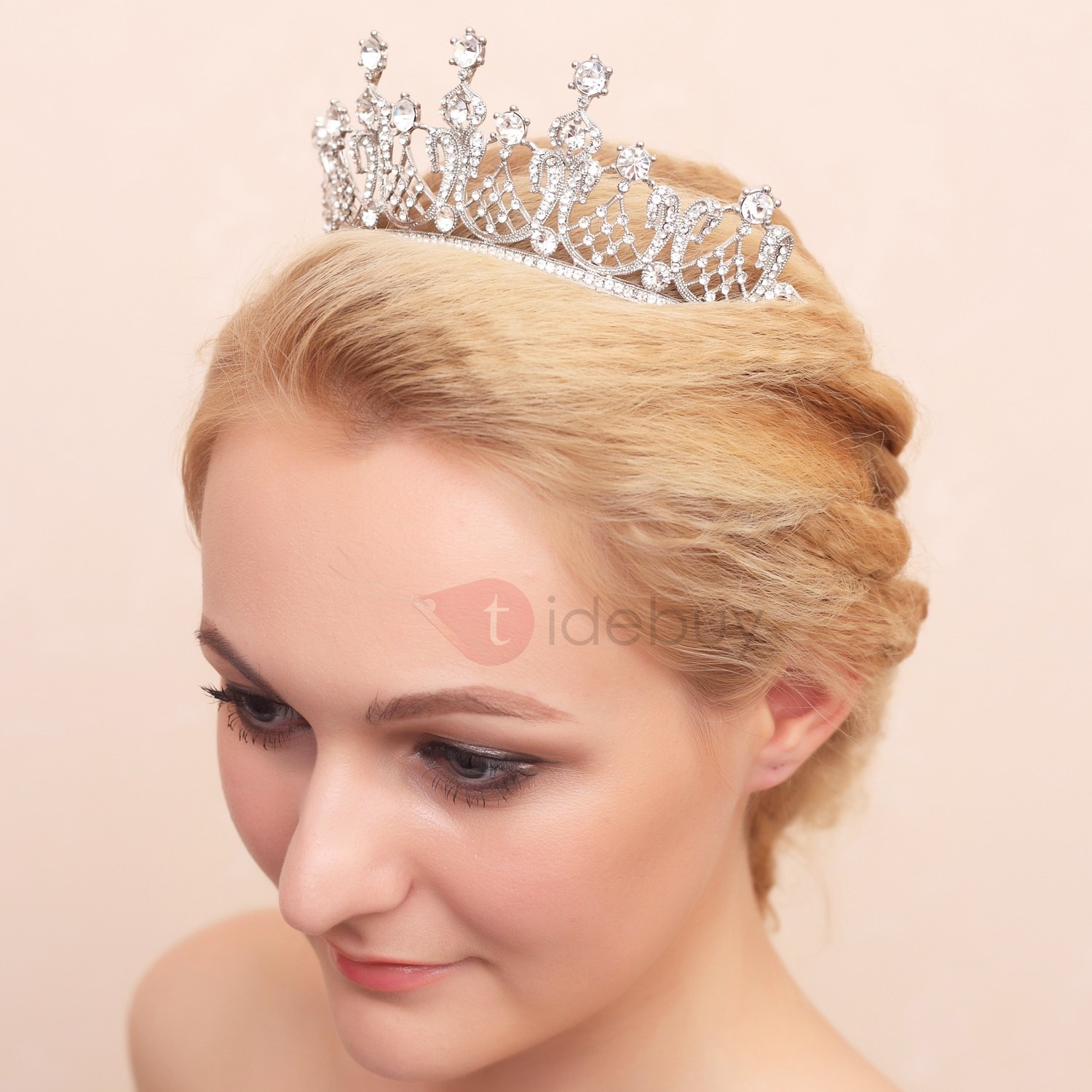 Fashion Shiny Rhinestone Alloy Wedding Crown