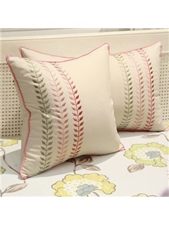 Soft Line Leaf Print Pillowcase