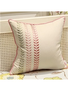 Soft line Leaf-Print Pillowcase