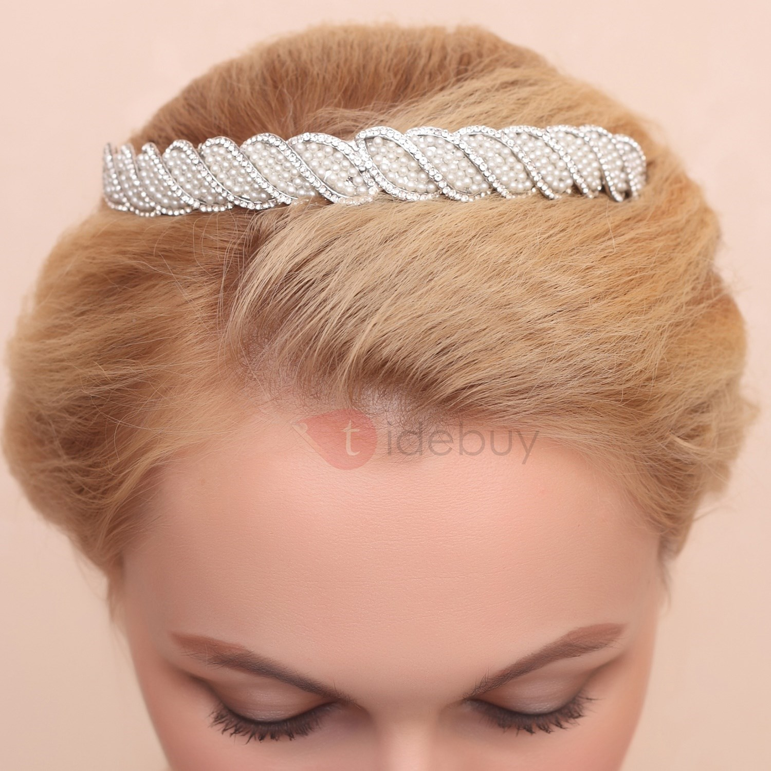 Fancy Rhinestone Diamante Alloy Wedding Tiara