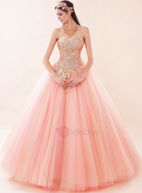 Dramatic Sweetheart Appliques Beaded Lace-up Ball Gown Quinceanera Dress