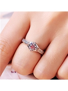 Delicate NSCD Diamond Pt950 D1ct Wedding Ring