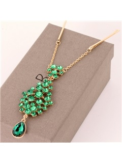 Dazzling Rhinestone Pendant Alloy Hair Band
