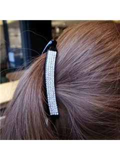 Elegant Multilayer Diamond Gathered Womens Hair Band