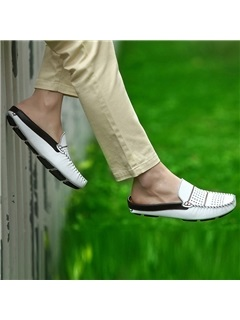Thread Hollow Air-Permeable Men's Shoes