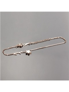 Love & Star Decorated Alloy Anklet