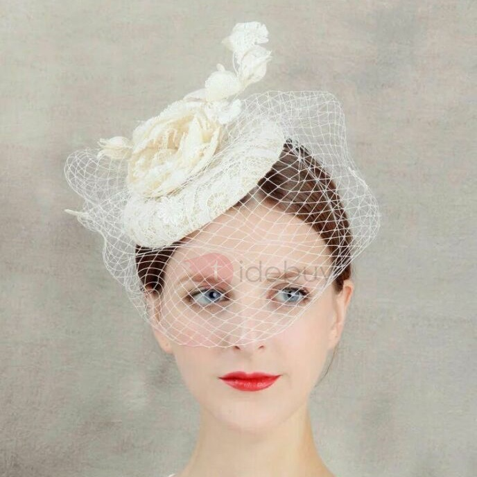 Bridal Net Hat Wedding Face Veil