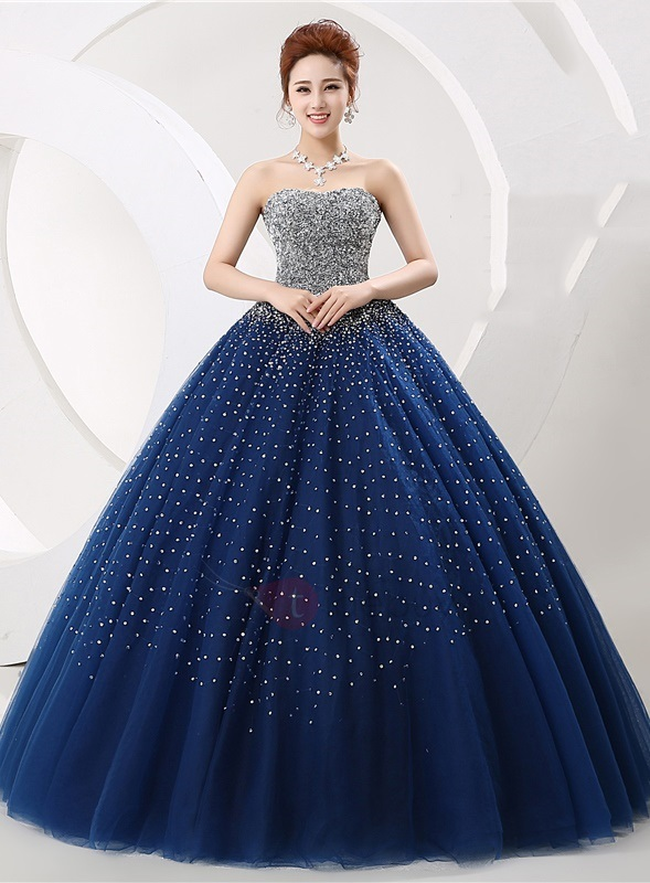 Amazing Sweetheart Sequined Beaded Ball Gown Lace-up Quinceanera Dress