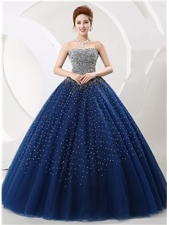 Amazing Sweetheart Sequined Beaded Ball Gown Lace-up Quinceanera Dress & Ball Gown Dresses from china