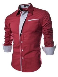 Top Quality Fashion One-pocket Men's Shirt