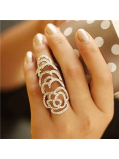 Rose Shaped Cutout Ring