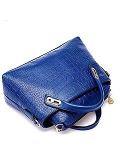 Solid Zipper Embossing Bag Set for Women(3 pieces)