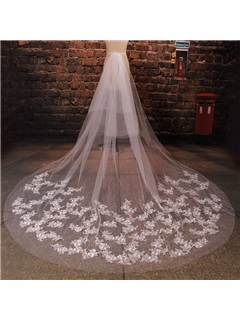 Embroidery Lace Long Wedding Veil